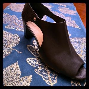 Black Giani Bernini peek-a-boo shoes